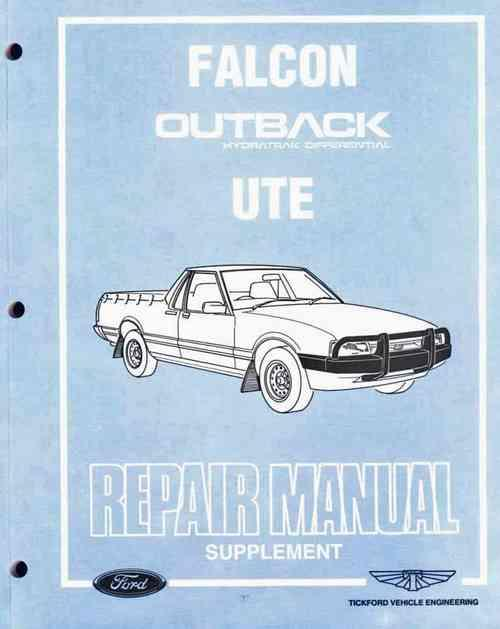 Ford Falcon Outback Hydratrak Differential Ute Repair Manual Supplement Ford Australia