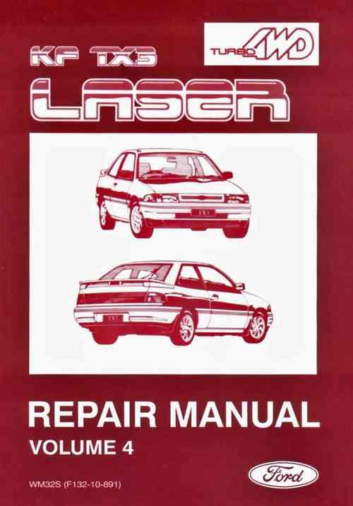 Ford Laser Kf Tx3 Turbo  U0026 4wd Factory Repair Manual Supplement Ford Australia